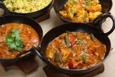 Indische Curry-Auswahl Lizenzfreies Stockbild