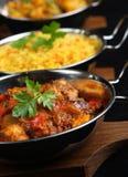 Indische Curry-Nahrung Stockfotografie