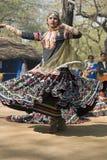 Indische Dame Dancing Royalty-vrije Stock Afbeelding