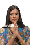 Indische dame in traditionele att Royalty-vrije Stock Foto