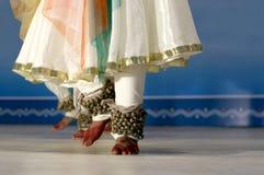 Indische dans-kathak-dans Stock Foto