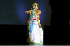 Indische dans-Rabindra Nrityotsav Stock Foto's