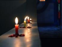 Indische Diwali 2014 Kaarsen Stock Afbeeldingen