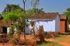 Indische Dorf-Häuser Stockfotos