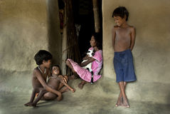 Indische Dorpskinderen Stock Foto's