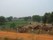 Indische Dorpsscène Stock Foto's