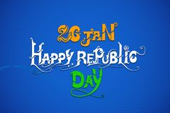 Indische dreifarbige Flagge für glücklichen Tag der Republik Lizenzfreie Stockfotografie