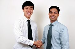 Indische en Chinese Zakenman. Royalty-vrije Stock Fotografie