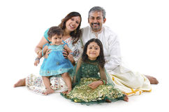 Indische Familie stockfotos