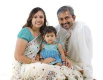 Indische Familie stockfoto