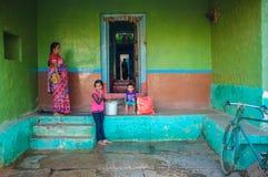 Indische Familie Stockbild