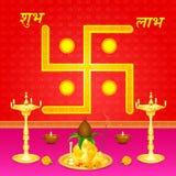 Indische festivalachtergrond Royalty-vrije Stock Afbeeldingen