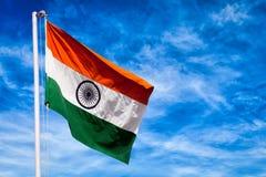 Indische Flagge von Indien Lizenzfreies Stockfoto