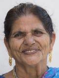 Indische Frau des Porträts, Abschluss oben Lizenzfreie Stockfotografie
