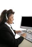 Indische Frau online Lizenzfreies Stockfoto