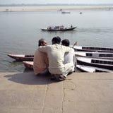 Indische Freunde stockfotos