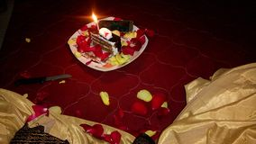 Indische Geburtstagsfeier stockbild