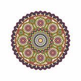 Indische Gekritzelpaisley-boho Mandala Auch im corel abgehobenen Betrag Stockbilder