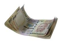 Indische gestapelde 500 van bankbiljet-INR Stock Fotografie