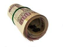 Indische gevouwen 500 van bankbiljet-INR Royalty-vrije Stock Afbeeldingen