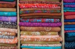 Indische Gewebe für Verkauf Stockfotos