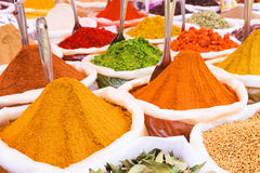 Indische Gewürze Stockfotografie