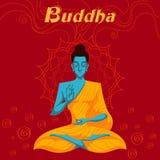 Indische God Boedha in meditatie Stock Afbeelding