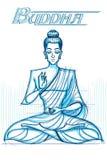 Indische God Boedha in schetsmatige blik Royalty-vrije Stock Foto