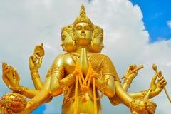 Indische god van Brahma Stock Foto