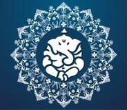 Indische godsganesha, de gelukkige kaart van ganeshchaturthi Stock Afbeelding