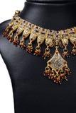 Indische Goldhalskette Stockfoto