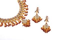 Indische Goldhalskette Lizenzfreies Stockfoto
