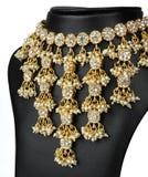 Indische Goldhalskette Stockbild