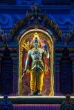 Indische Gottheit nachts stockfotografie