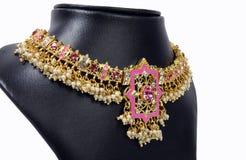 Indische Gouden Halsband royalty-vrije stock foto