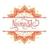 Indische groetbanner Namaste Royalty-vrije Stock Fotografie
