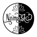 Indische groetbanner Namaste Stock Fotografie