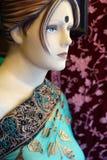 indische hölzerne blinde Art und Weise gekleidet Stockfotografie