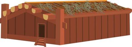 Indische hölzerne Hütte Lizenzfreies Stockbild