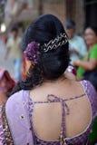 Indische Haarstijl Royalty-vrije Stock Foto