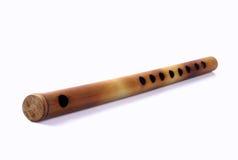 Indische handgemachte Flöte Stockbild