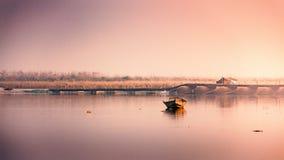 Indische Heilige rivier Ganga Stock Afbeelding