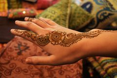 Indische Henna Tattoo Royalty-vrije Stock Foto's