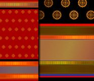 Indische het patroonreeks van Pattu Sari Vector royalty-vrije stock fotografie
