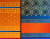 Indische het patroonreeks van Pattu Sari Vector stock afbeelding
