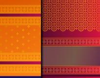 Indische het patroonreeks van Pattu Sari Vector royalty-vrije stock afbeeldingen
