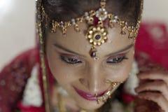 Indische Hindoese Bruid met juwelen Royalty-vrije Stock Foto's