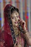 Indische Hindoese Bruid met juwelen Stock Fotografie