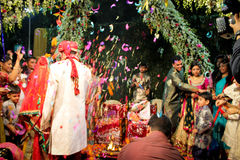 Indische Hochzeit stockbild