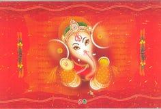indische Hochzeitskarte Stockbilder